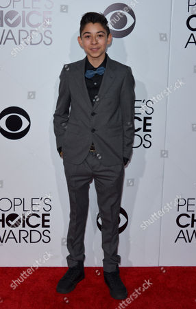 Fabrizio Zacharee Guido arrives at the 40th annual People's Choice Awards at Nokia Theatre L.A. Live, in Los Angeles