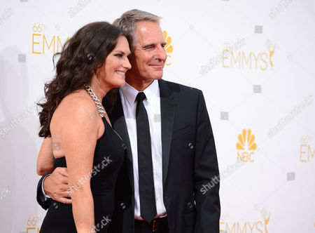 Chelsea Field and Scott Bakula arrive at the 66th Annual Primetime Emmy Awards at the Nokia Theatre L.A. Live, in Los Angeles