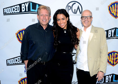 Stock Picture of From left, Joe Roth, Tracey Edmonds, and Donald DeLine arrive at the 2014 Produced By Conference - Day 1 at Warner Bros. Studios, in Burbank, Calif