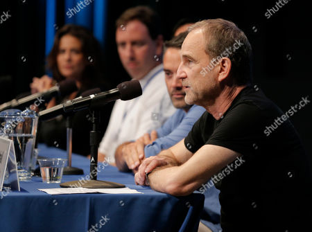 Marshall Herskovitz, right, is seen during The Revolution Has Just Been Televised: The Disrupted Landscape of TV panel at the 2014 Produced By Conference - Day 1 at Warner Bros. Studios, in Burbank, Calif