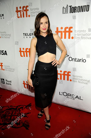 "Claire van der Boom arrives at the premiere of ""Ruth & Alex"" on day 2 of the Toronto International Film Festival at the Princess of Wales Theatre, in Toronto"