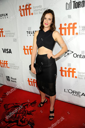 """Claire van der Boom arrives at the premiere of """"Ruth & Alex"""" on day 2 of the Toronto International Film Festival at the Princess of Wales Theatre, in Toronto"""