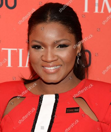 Omotola Jalade Ekeinde arrives at the 2014 TIME 100 Gala held at Frederick P. Rose Hall, Jazz at Lincoln Center on in New York