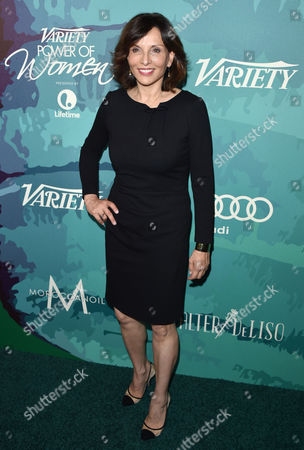 Orly Adelson arrives at the 2014 Variety Power Of Women event at the Beverly Wilshire Four Seasons Hotel, in Beverly Hills, Calif
