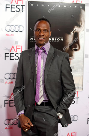 "Stock Picture of Former NFL football player Willie Gault poses at the world premiere gala screening of the film ""Concussion"" during the 2015 AFI Fest at the TCL Chinese Theatre, in Los Angeles"