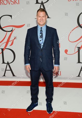 John Bartlett arrives at the 2015 CFDA Fashion Awards at Alice Tully Hall, in New York