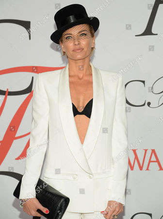 Stock Photo of Virginie Promeyrat arrives at the 2015 CFDA Fashion Awards at Alice Tully Hall, in New York
