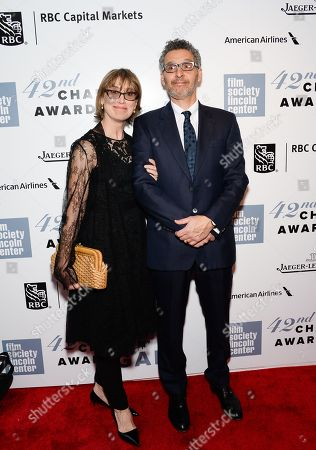 Actor John Turturro and wife Katherine Borowitz arrive at the 42nd Annual Chaplin Award Gala Honoring Robert Redford at Alice Tully Hall, in New York