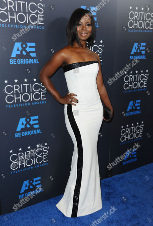 Erica Tazel arrives at the Critics' Choice Television Awards at the Beverly Hilton hotel, in Beverly Hills, Calif