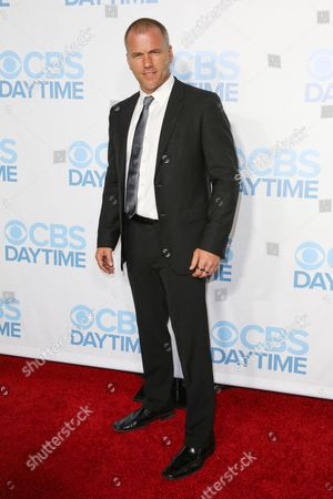 Sean Carrigan arrives at the 2015 Daytime Emmy Awards CBS After Party at The Hollywood Athletic Club, in Los Angeles