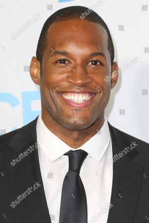 Lawrence Saint-Victor arrives at the 2015 Daytime Emmy Awards CBS After Party at The Hollywood Athletic Club, in Los Angeles