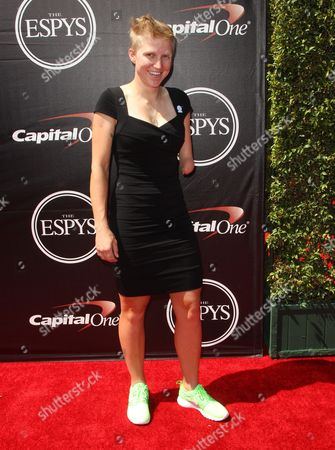 Stock Image of American Paralympic cyclist Greta Neimanas arrives at the ESPY Awards at the Microsoft Theater, in Los Angeles