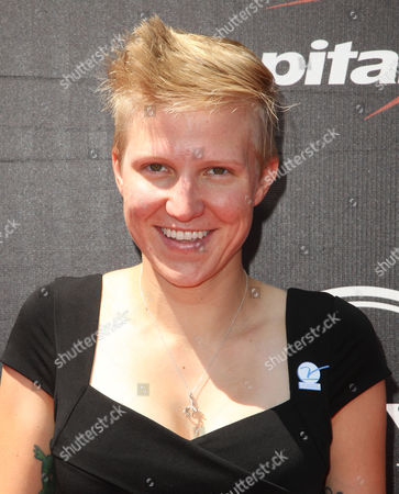 Stock Picture of American Paralympic cyclist Greta Neimanas arrives at the ESPY Awards at the Microsoft Theater, in Los Angeles