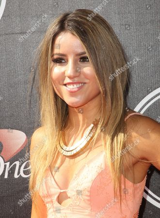 Skateboarder Leticia Bufoni arrives at the ESPY Awards at the Microsoft Theater, in Los Angeles