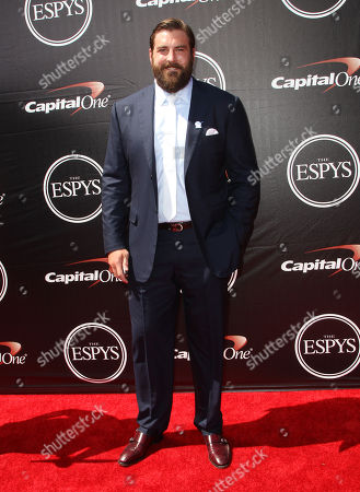 Stock Picture of NFL player Todd Herremans, of the Indianapolis Colts, arrives at the ESPY Awards at the Microsoft Theater, in Los Angeles