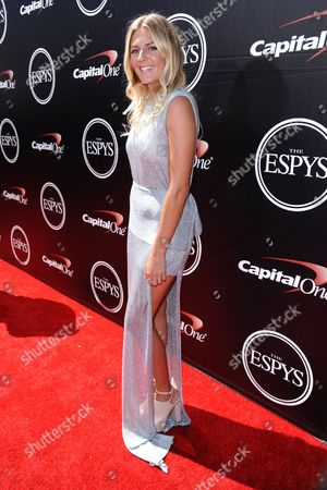 Australian professional surfer Stephanie Gilmore arrives at the ESPY Awards at the Microsoft Theater, in Los Angeles