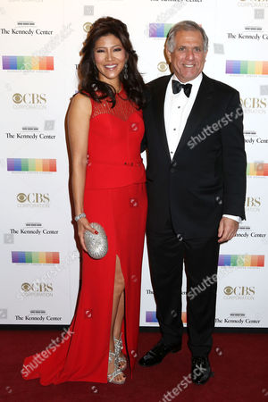 Julie Chen, left, and Les Moonves attend the 38th Annual Kennedy Center Honors at The Kennedy Center Hall of States, in Washington