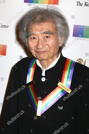 Stock Image of 2015 Kennedy Center Honoree Seiji Ozawa attends the 38th Annual Kennedy Center Honors at The Kennedy Center Hall of States, in Washington