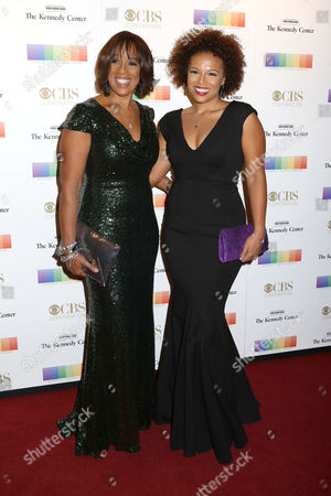 Gayle King, left, and daughter Kirby Bumpus attend the 38th Annual Kennedy Center Honors at The Kennedy Center Hall of States, in Washington