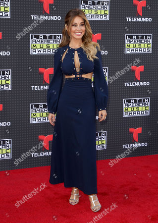 Myrka Dellanos arrives at the Latin American Music Awards at the Dolby Theatre, in Los Angeles