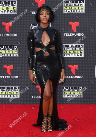 Dawn Richard arrives at the Latin American Music Awards at the Dolby Theatre, in Los Angeles