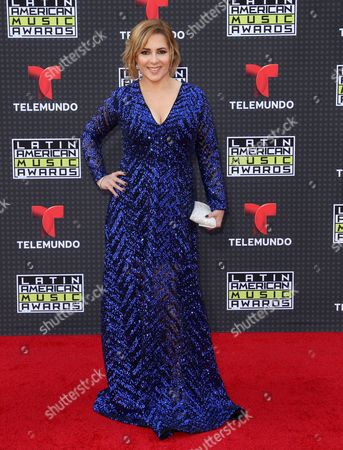 Ana Maria Canseco arrives at the Latin American Music Awards at the Dolby Theatre, in Los Angeles