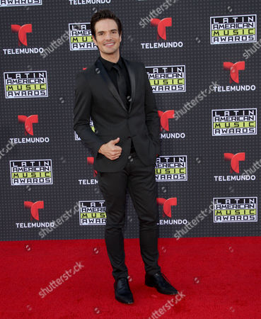 Stock Image of Andres Zuno arrives at the Latin American Music Awards at the Dolby Theatre, in Los Angeles