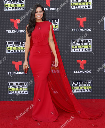 Melissa Carcache arrives at the Latin American Music Awards at the Dolby Theatre, in Los Angeles