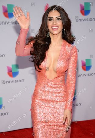 Jessica Cediel arrives at the 16th annual Latin Grammy Awards at the MGM Grand Garden Arena, in Las Vegas