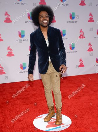 Alex Cuba arrives at the 16th annual Latin Grammy Awards at the MGM Grand Garden Arena, in Las Vegas