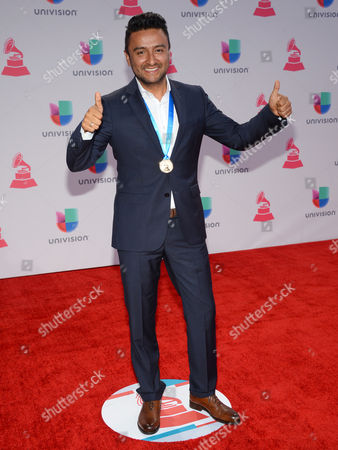 Alex Campos arrives at the 16th annual Latin Grammy Awards at the MGM Grand Garden Arena, in Las Vegas