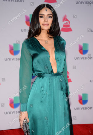 Jamillette Gaxiola arrives at the 16th annual Latin Grammy Awards at the MGM Grand Garden Arena, in Las Vegas