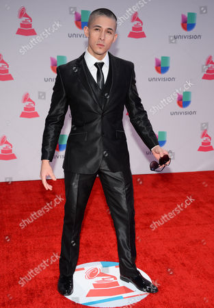 Jesse Medeles arrives at the 16th annual Latin Grammy Awards at the MGM Grand Garden Arena, in Las Vegas