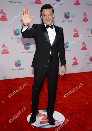 Pedro Fernandez arrives at the 16th annual Latin Grammy Awards at the MGM Grand Garden Arena, in Las Vegas