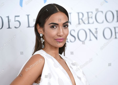 Manu Manzo, nominated for best new artist, arrives at the Latin Recording Academy Person of the Year Tribute honoring Roberto Carlos at the Mandalay Bay Convention Center, in Las Vegas