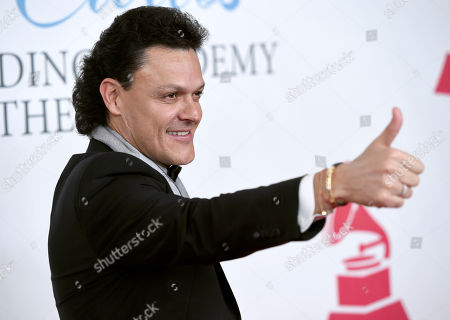 Pedro Fernandez arrives at the Latin Recording Academy Person of the Year Tribute honoring Roberto Carlos at the Mandalay Bay Convention Center, in Las Vegas