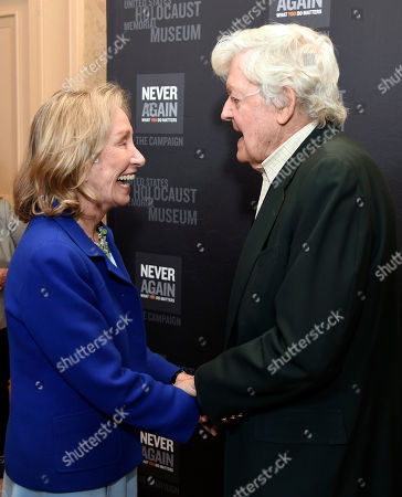 Doris Kearns Goodwin, left, and Hal Holbrook arrive at the Los Angeles Dinner : What You Do Matters at the Beverly Hilton Hotel, in Beverly Hills, Calif