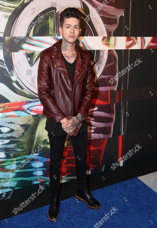 T. Mills arrives at the MTV Video Music Awards at the Microsoft Theater, in Los Angeles