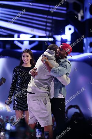 Hailee Steinfeld, Drake and P. Reign seen at the 2015 Much Music Video Awards at the Much Music HQ, in Toronto, Canada