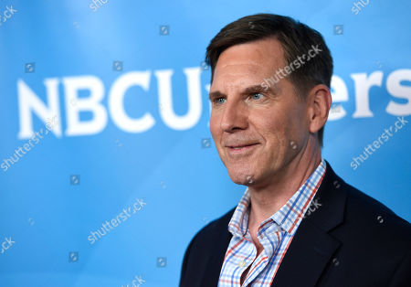 Tim Bagley arrives at the NBC Universal Summer Press Day at The Langham Huntington Hotel, in Pasadena, Calif