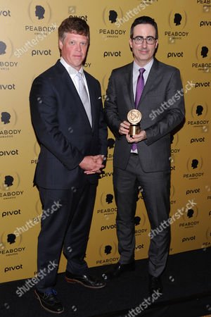 Jeffrey P. Jones, left, and Peabody Award Recipient John Oliver attends the 74th Annual Peabody Awards at Cipriani Wall Street, in New York