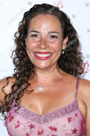 Stock Image of Marabina Jaimes arrives at the 2015 Performers Peer Group Celebration Presented by The Television Academy at the Montage Hotel, in Beverly Hills, Calif