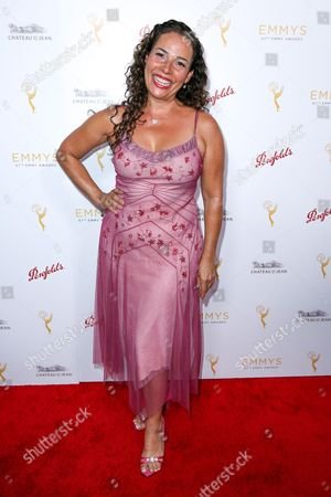 Marabina Jaimes arrives at the 2015 Performers Peer Group Celebration Presented by The Television Academy at the Montage Hotel, in Beverly Hills, Calif