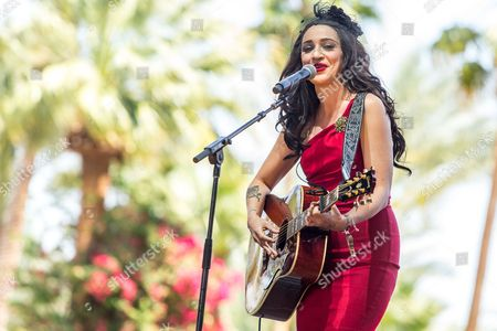 Lindi Ortega performs on stage during the 2015 Stagecoach Festival at the EmpireClub, in Indio, Calif