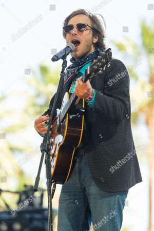 Andrew Combs performs during the final day of the 2015 Stagecoach Festival at the EmpireClub, in Indio, Calif