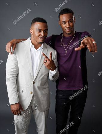 "RonReaco Lee, left, and Jessie Usher, cast members in the television series ""Survivor's Remorse,"" pose together for a portrait during the 2015 Television Critics Association Summer Press Tour at the Beverly Hilton, in Beverly Hills, Calif"