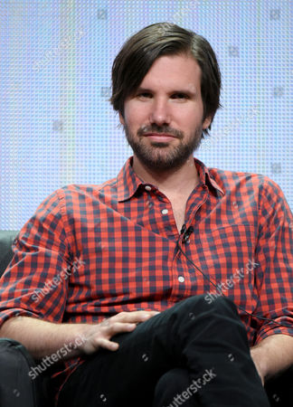 """Stock Image of Jon Lajoie participates in """"The League"""" panel at the FX Summer TCA Tour at the Beverly Hilton Hotel, in Beverly Hills, Calif"""