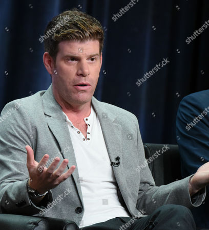 """Stephen Rannazzisi participates in """"The League"""" panel at the FX Summer TCA Tour at the Beverly Hilton Hotel, in Beverly Hills, Calif"""