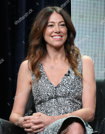 """Jackie Schaffer participates in """"The League"""" panel at the FX Summer TCA Tour at the Beverly Hilton Hotel, in Beverly Hills, Calif"""