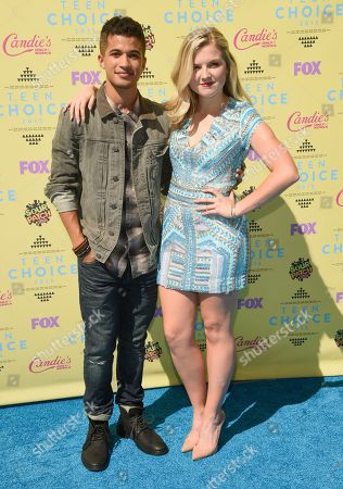 Stock Image of Jordan Fisher, left and Anna Grace Barlow arrive at the Teen Choice Awards at the Galen Center, in Los Angeles
